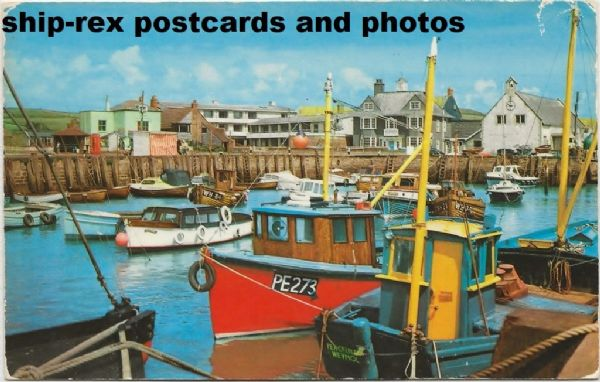 West Bay (Dorset) harbour, postcard (b)